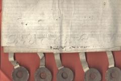 5 sigilli austriaci in tazza di legno 14530210
