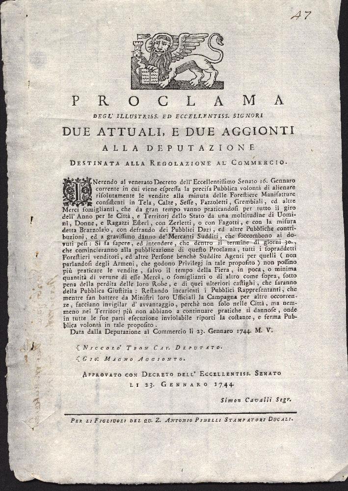 venezia 23 01 1744