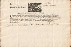 1703 29 Marzo da Venezia a Cremona poi Padova- Il bùrchio o bùrcio è una grossa imbarcazione da carico in uso nella laguna di Venezia. Si tratta di un battello di grandi dimensioni dal fondo piatto per poter navigare agevolmente nei bassi fondali della laguna.