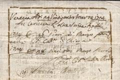 1724 24 Marzo da Venezia, splendida polizza di carico prestampata in sanguigna bruna, con piccolo logo del leone di San marco -RETRO