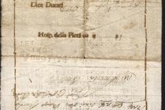1724 24 Marzo da Venezia, splendida polizza di carico prestampata in sanguigna bruna, con piccolo logo del leone di San marco- RETRO