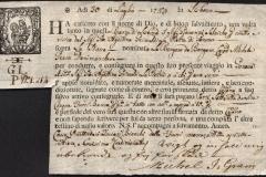 1759 30 Luglio da Lisbona a Genova, con gilda della corporazione e logo religioso