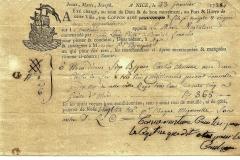 1788 23 Gennaio da Nice a Agde, con gilda della corporazione.
