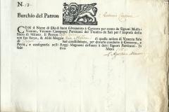 1790 11 Maggio, da Venezia Cremona e Pavia, splendido logo del logo del leone di San Marco,