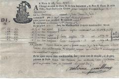 1792 18 Giugno da Havre a Adge, particolare il tipo di carta usato.