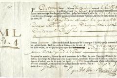 1796 5 Luglio da da Cap a Bordeaux, priva di logo solo le iniziali.