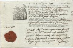 1798 7 Giugno da Savona a Loano, logo religioso e sigillo in ceralacca.