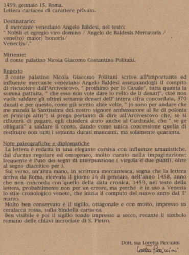 15011458-roma-venezia-regesto
